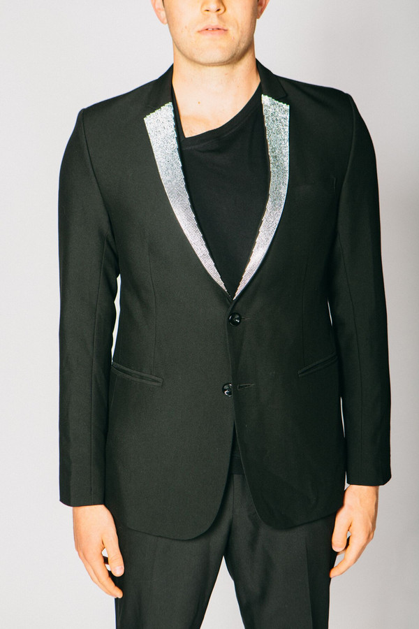 Men's Any Old Iron Diamanté Lapel Blazer