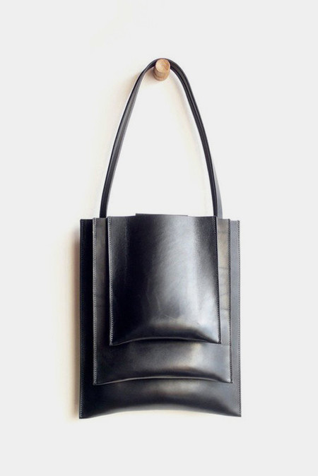 Sara Barner Leather Stack Tote