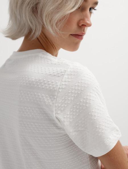 Norse Projects Womens Gro Bubble T-Shirt Ecru
