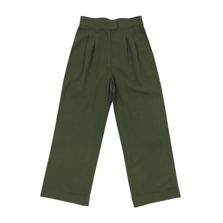 Ali Golden Roll Cuff Pant - Olive