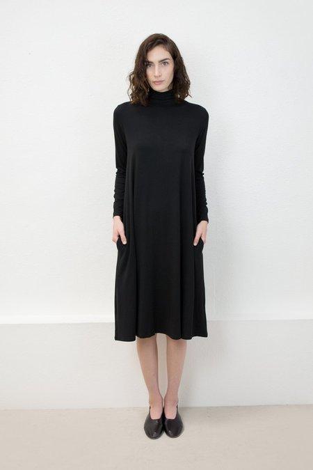Micaela Greg Jersey Mock Neck Dress - Black