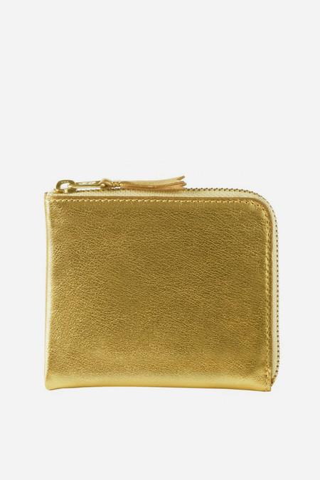 Men's Comme des Garçons Leather SA-3100G Half Zip Wallet - Gold