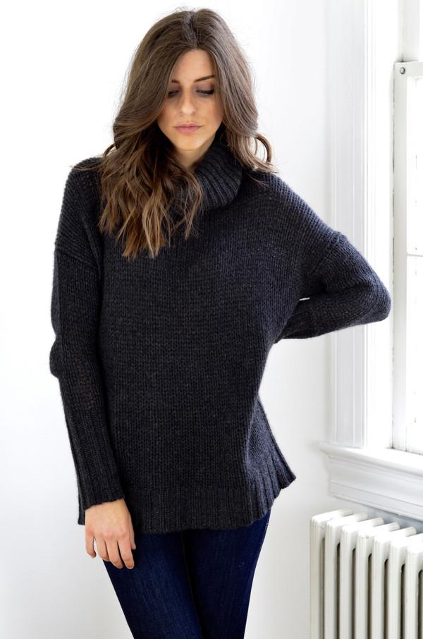 360 Cashmere Rhea Sweater Charcoal