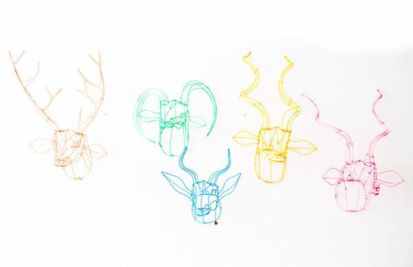 7 on Locust Wire Rhino Head