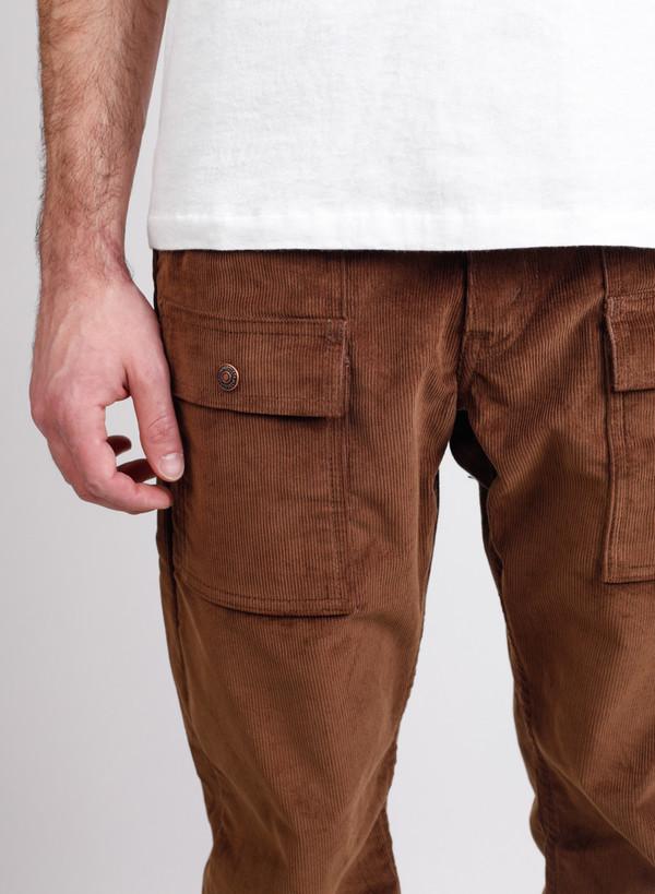 Men's Orslow Bush Pants Brown Corduroy