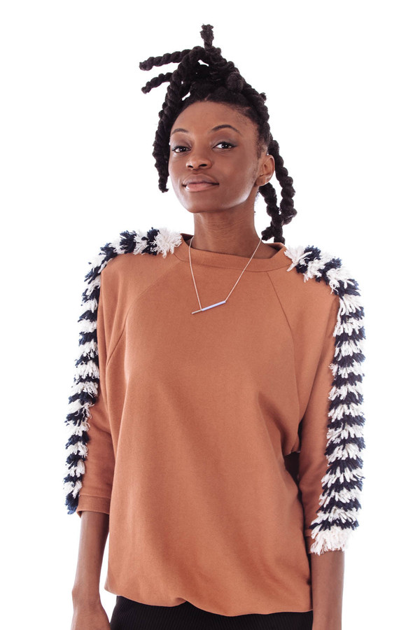 Sightline Sky Sweater  (Maroon With Stripes)