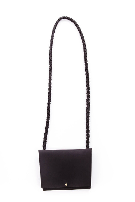 ARA Handbags Smalls Fold Over Shoulder Strap (Black)