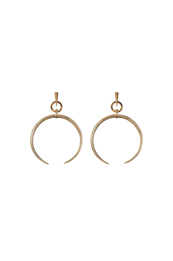 Luv Aj Oversized Crescent Hoops in Gold