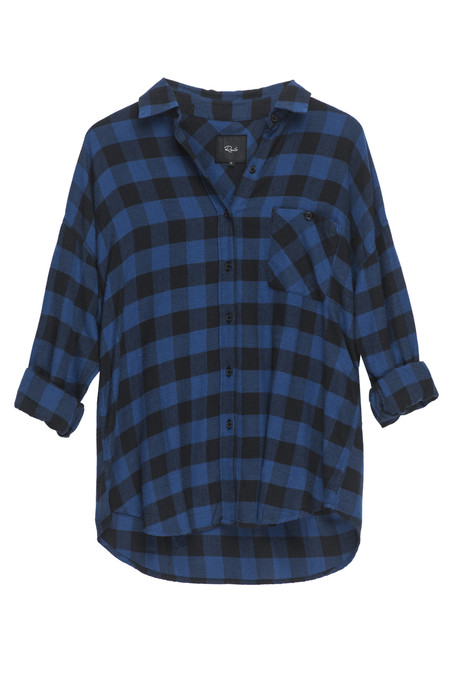 Rails Jackson Flannel Button Down - Blue & Black