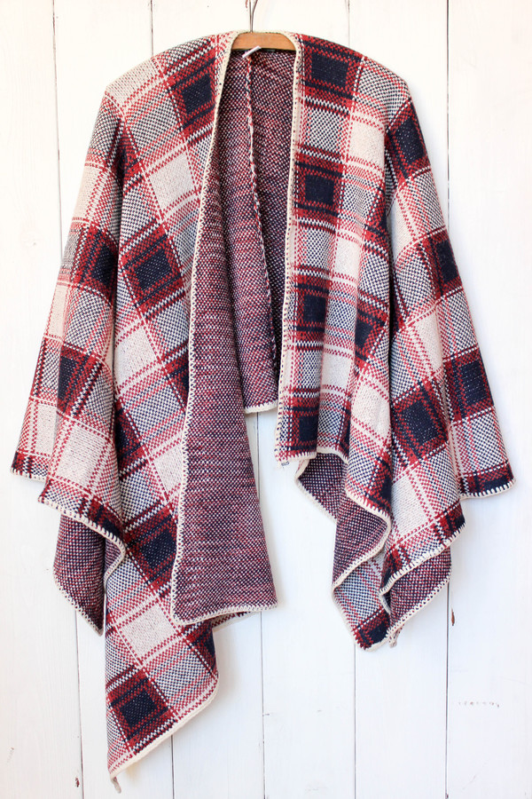 Sunday Supply Co. Plaid Poncho