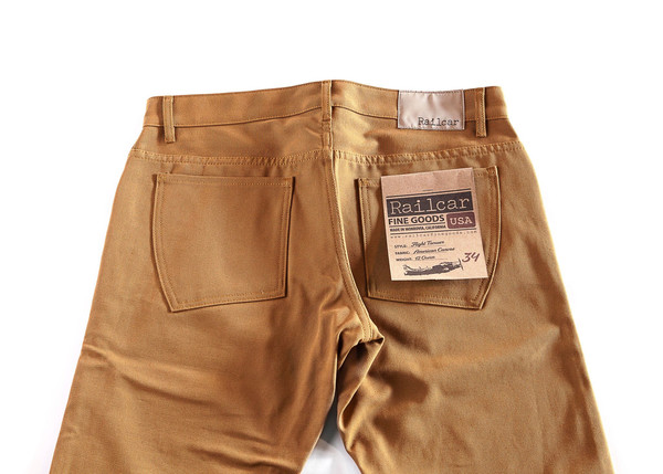 Men's Railcar Fine Goods - Flight Trouser 12oz American Duck Canvas