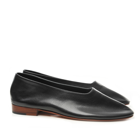 Martiniano Black Kid Glove Shoe