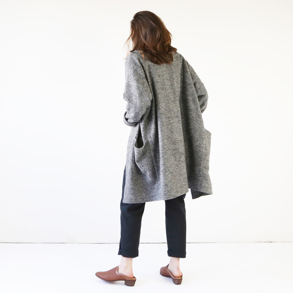Hackwith Design House Sweater Jacket, Dark Gray
