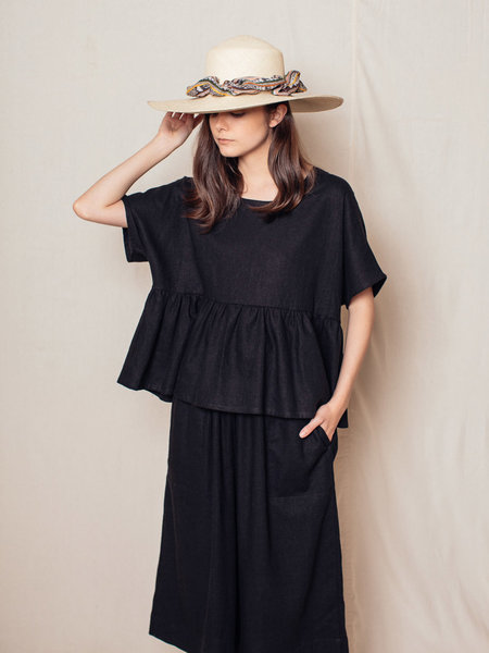 Brookes Boswell Scrunched Canna Straw Hat
