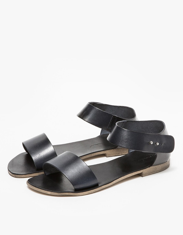 Intentionally Blank FIUME Sandal in Black Leather