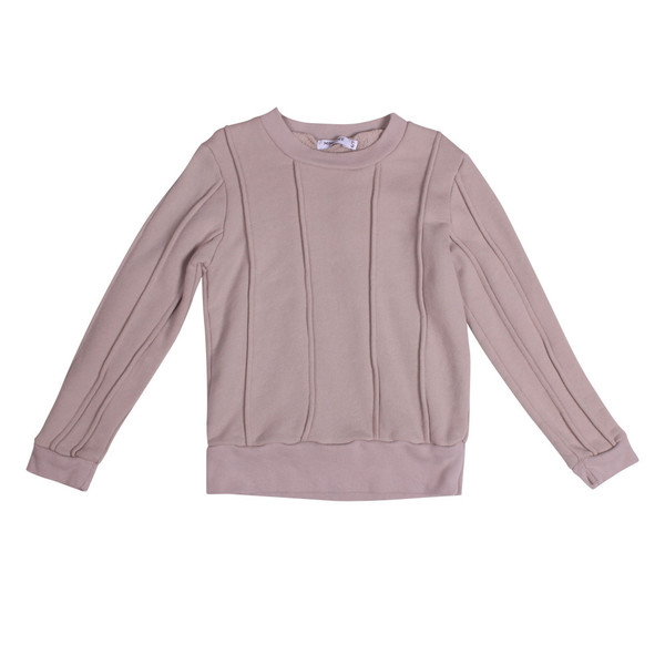 Kid's Mimobee Rugger Piped Sweat - Cloudy Grey