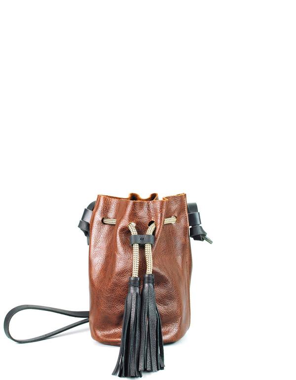 Eleven Thirty Christie Mini Bucket Bag Cognac