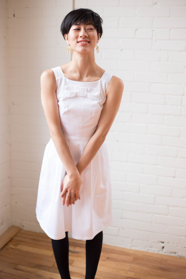Birds of North America Glide Dress (White)