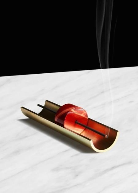 Cinnamon Projects Circa Brass + Mineral Incense Burner