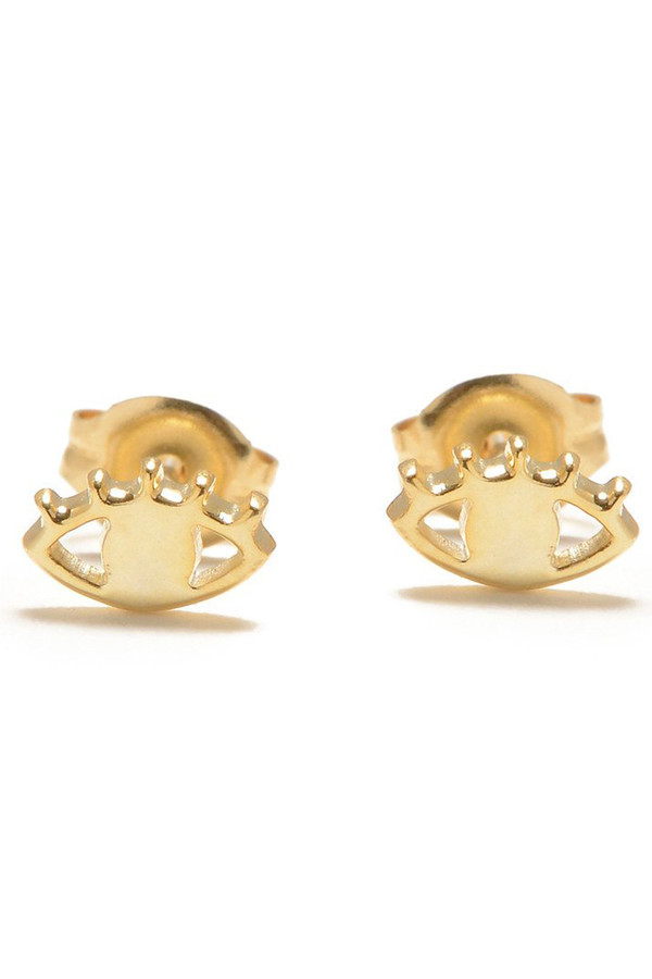 Bing Bang NYC Gold Eye Studs