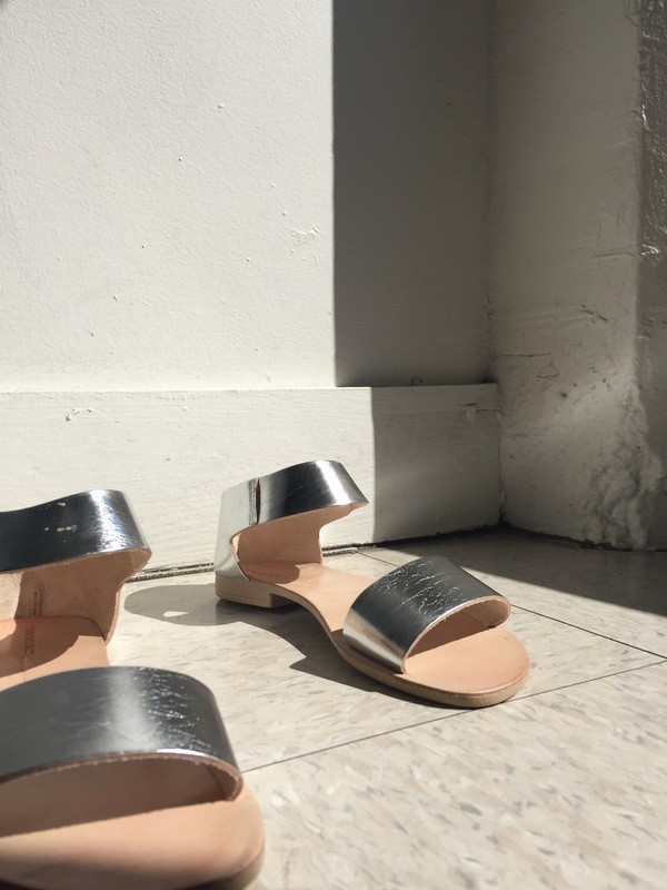 Intentionally Blank FIUME Sandal Silver Leather