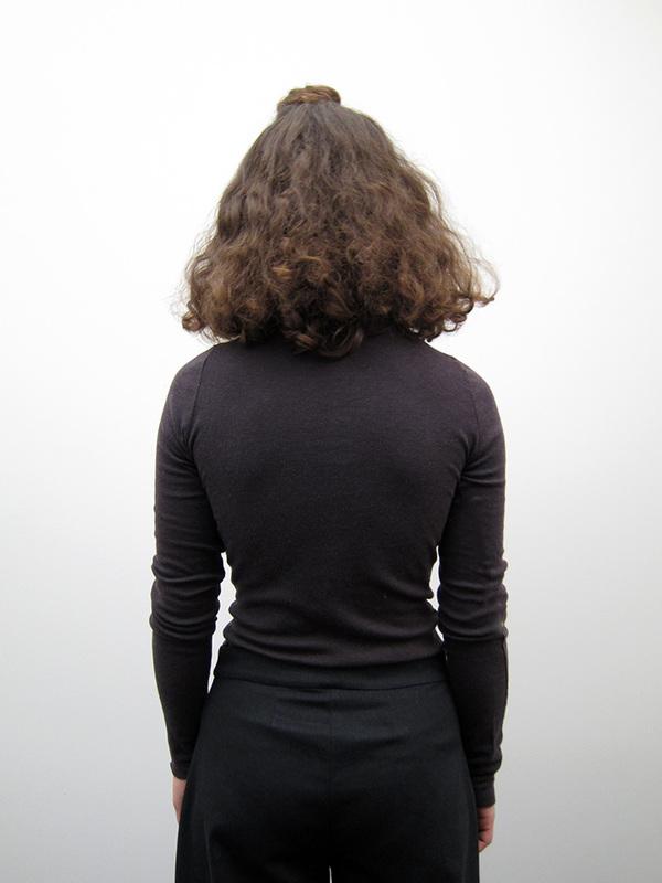 Lauren Manoogian Cashmere Rib Turtleneck, Dark Charcoal