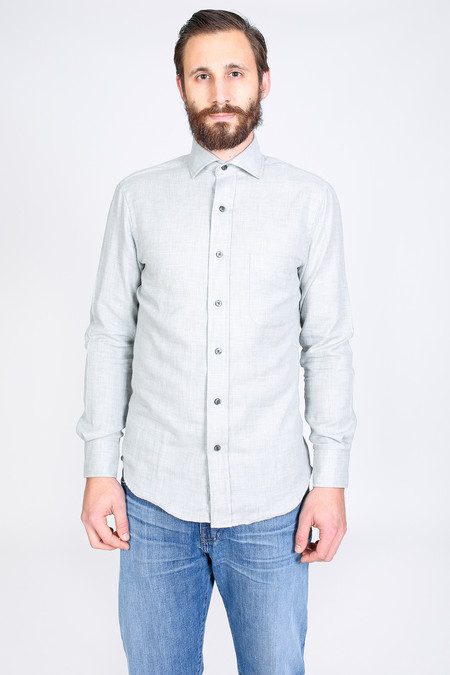 Men's Vert & Vogue Lowell Button-Up in Light Grey
