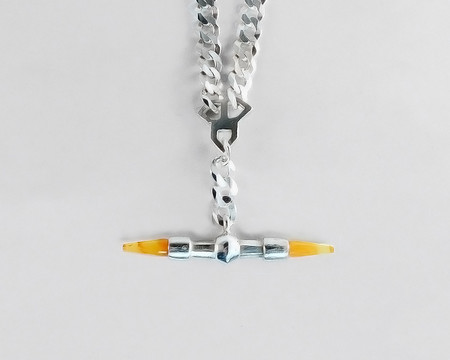 Lacar Checkmate Fob Inlay Necklace