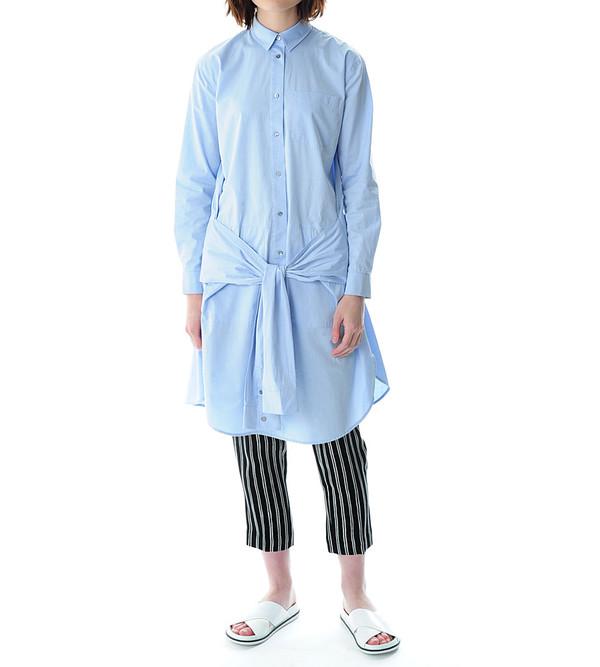 T By Alexander Wang Blue Cotton Poplin Shirt Dress