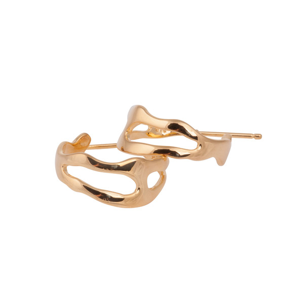 Shahla Karimi Paris Lake Small Hoop Earrings