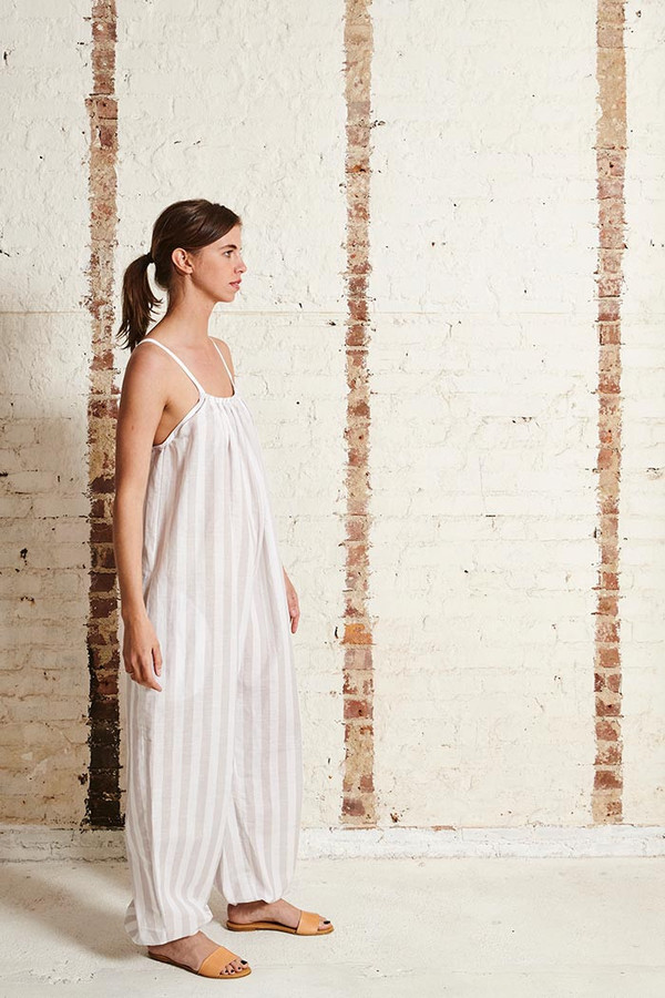 OffSeasonNYC Apolune Lounger Linen Blend Stripe