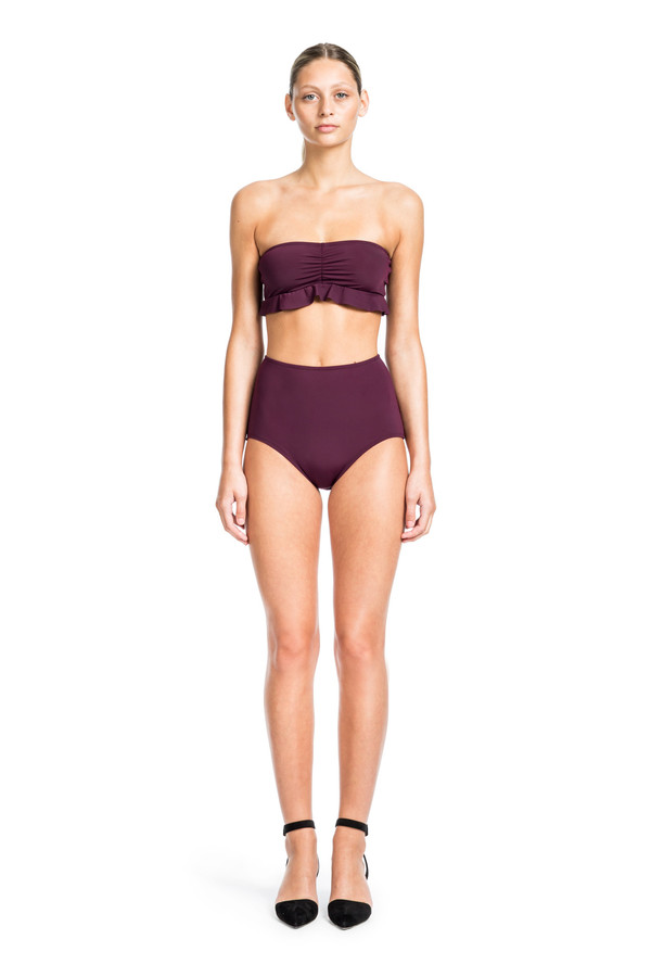 Beth Richards Chloe Top -  BANDEAU WITH RUFFLE DETAIL