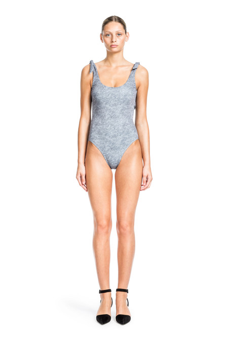 Beth Richards Coco One Piece - Grey Heather  ONE PIECE WITH TIE SHOULDERS