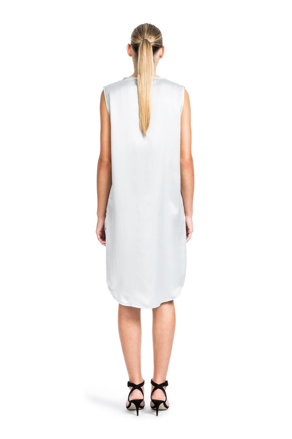 Beth Richards Silk Pilar Dress - Smoke