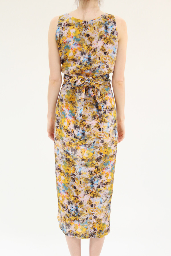 Anntian Print Long Dress Winder
