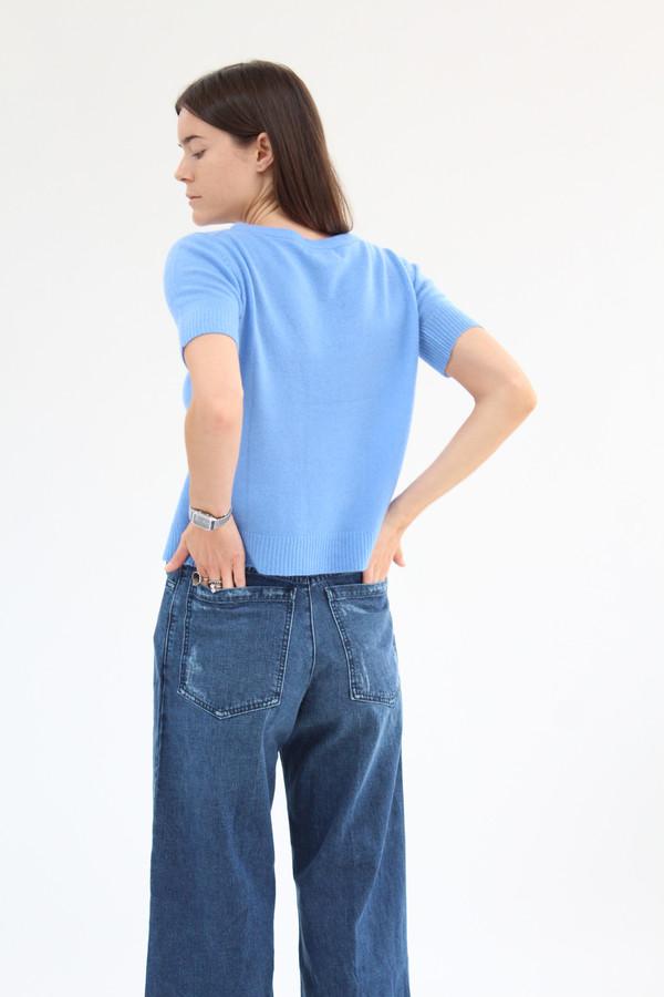 Beklina Cashmere Top Blue