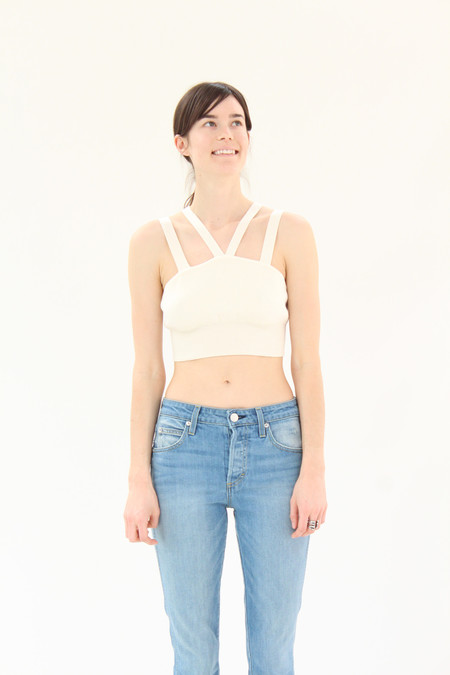 Diarte Devon Knit Top Cream