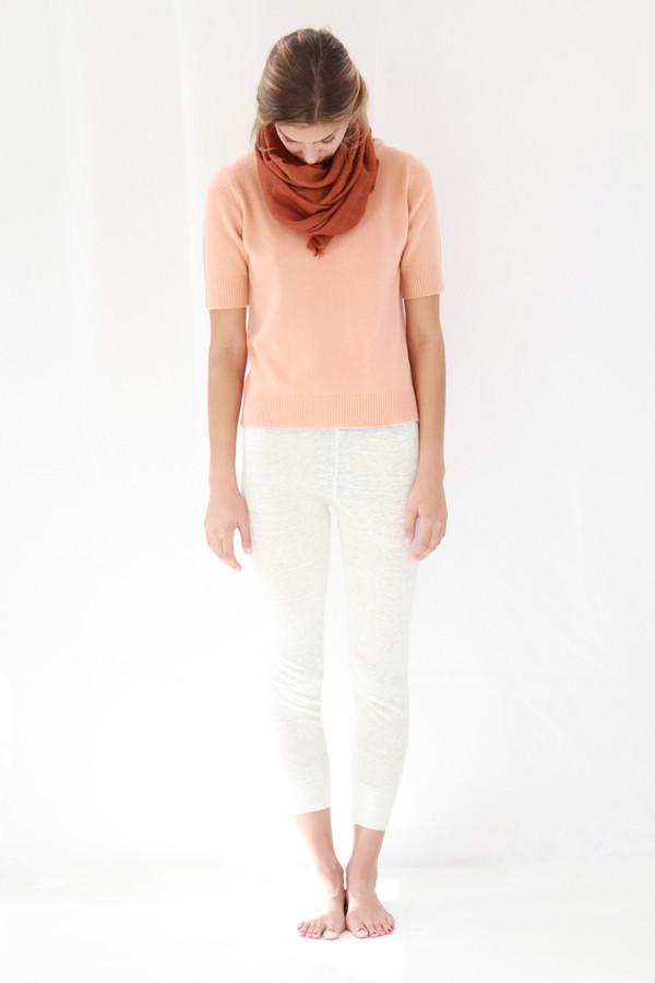 Lina Rennell Linen Knit Sweats White