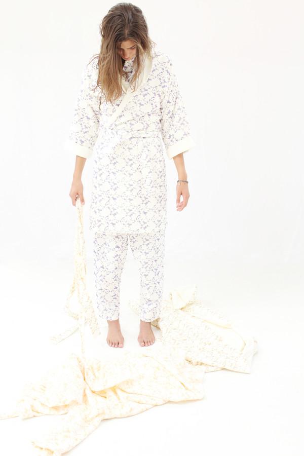 Beklina Organic Cotton Robe Lace Grape