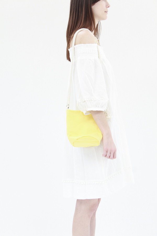 Lotfi Mini Bucket Bag Lemon