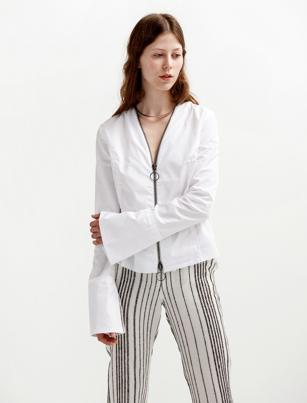 Etienne Deroeux Womens Tina Zip Shirt
