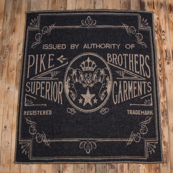 Pike Brothers - 1969 Logo Blanket Faded Black