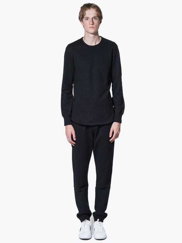 Knit Mid Wt Terry Scalloped-LS-Crewneck