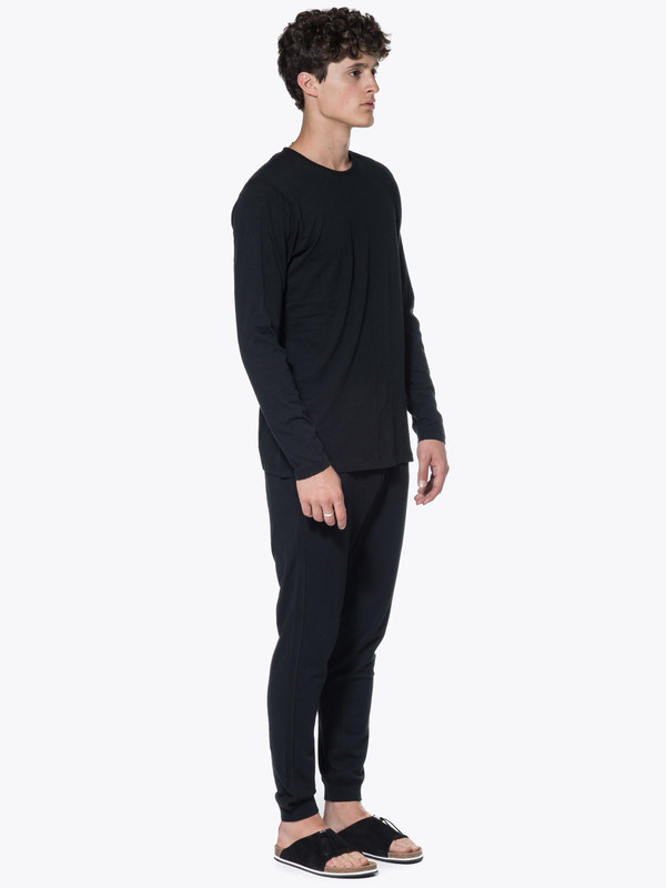 Men's Wings + Horns Knit Silk Jersey LS Crewneck
