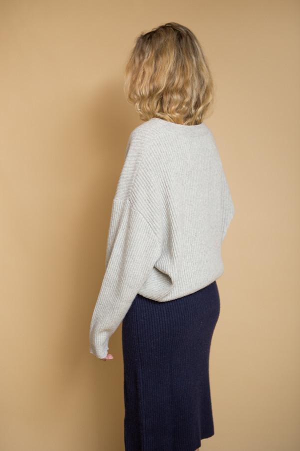 Just Female Corn Knit - Light Fog