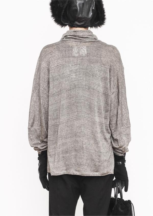 Berenik Grey Knit Turtleneck Top