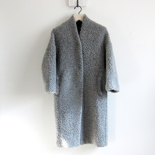 Elsa Esturgie Plume coat - grey
