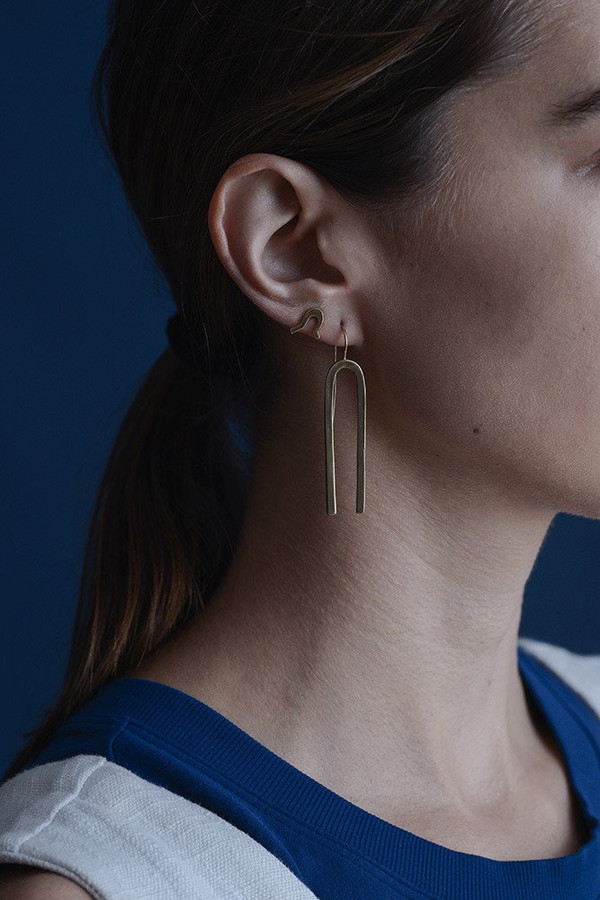 Seaworthy Jefa Earrings / Brass