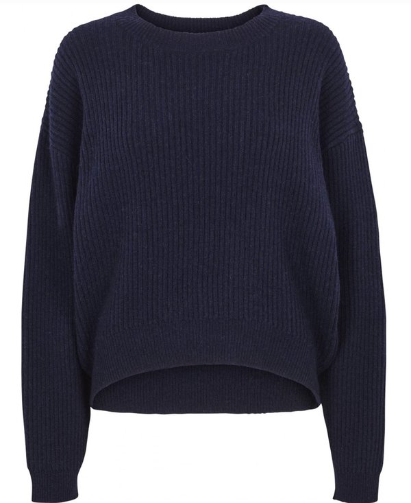 Just Female Corn Knit Sweater - Navy
