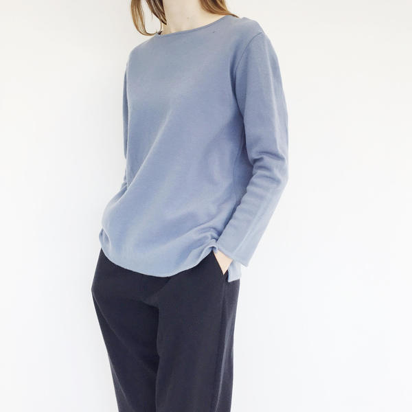 Johan Vintage Blue Boatneck Sweater